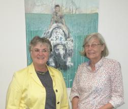 Annegreth Dierking mit Brigitte Scherb