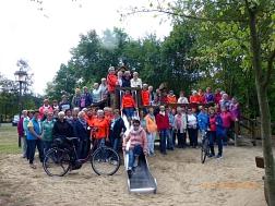 Gruppenfoto Radtour Nordel