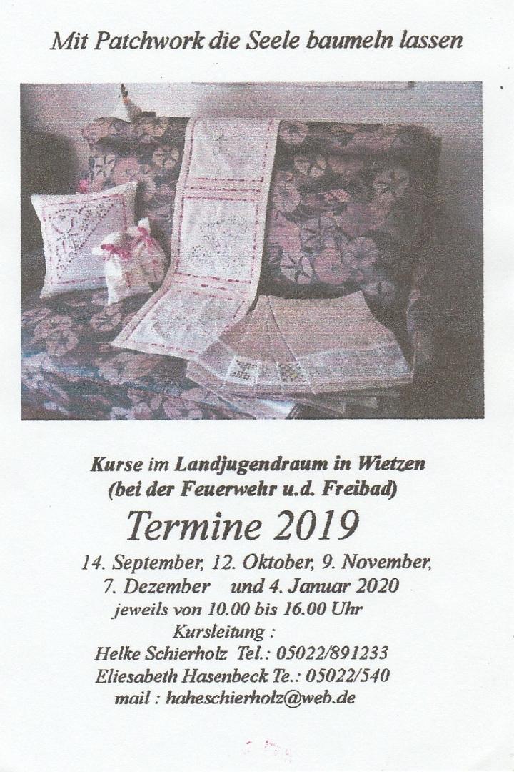 2019 Flyer Patchwork©LFV Wietzen