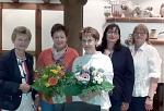 1.Vorsitzende Gaby Lübber, Guste Rodenberg, Regina Kemker, Marita Eschenhorst, 2. Vorsitzende Silke Riekemann