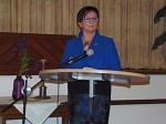 Christa Knipping begrüßt die Landfrauen und die Ehrengäste