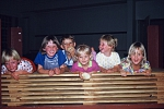 lachende Kindergruppe