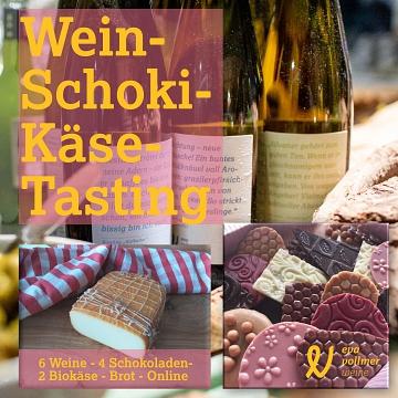 Online-Weinprobe, Käse und Schokolade©LFV Pennigsehl-Mainsche