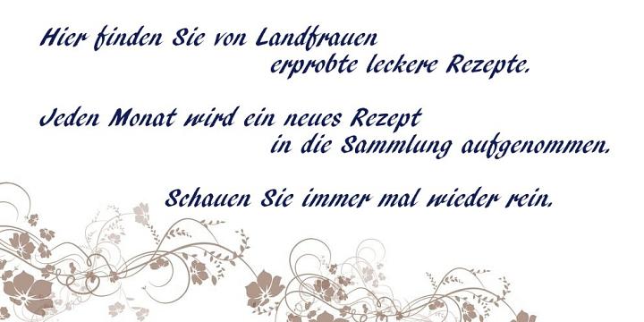 Text Rezepte Startseite©LFV Wietzen, Elke Märtens